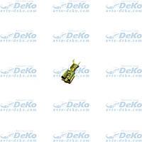 Клемма плоская латунь (мама) 6,3 мм (комплект 100шт)