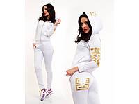 Модный женский белый спортивный костюм из дайвинга