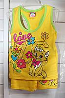 Комплект  детский, шорты и майка, купить оптом со склада 7км комплект на девочку, KAT 945 DK- 0027
