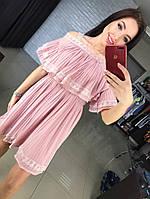 Женское модное летнее платье-плиссе (3 цвета)