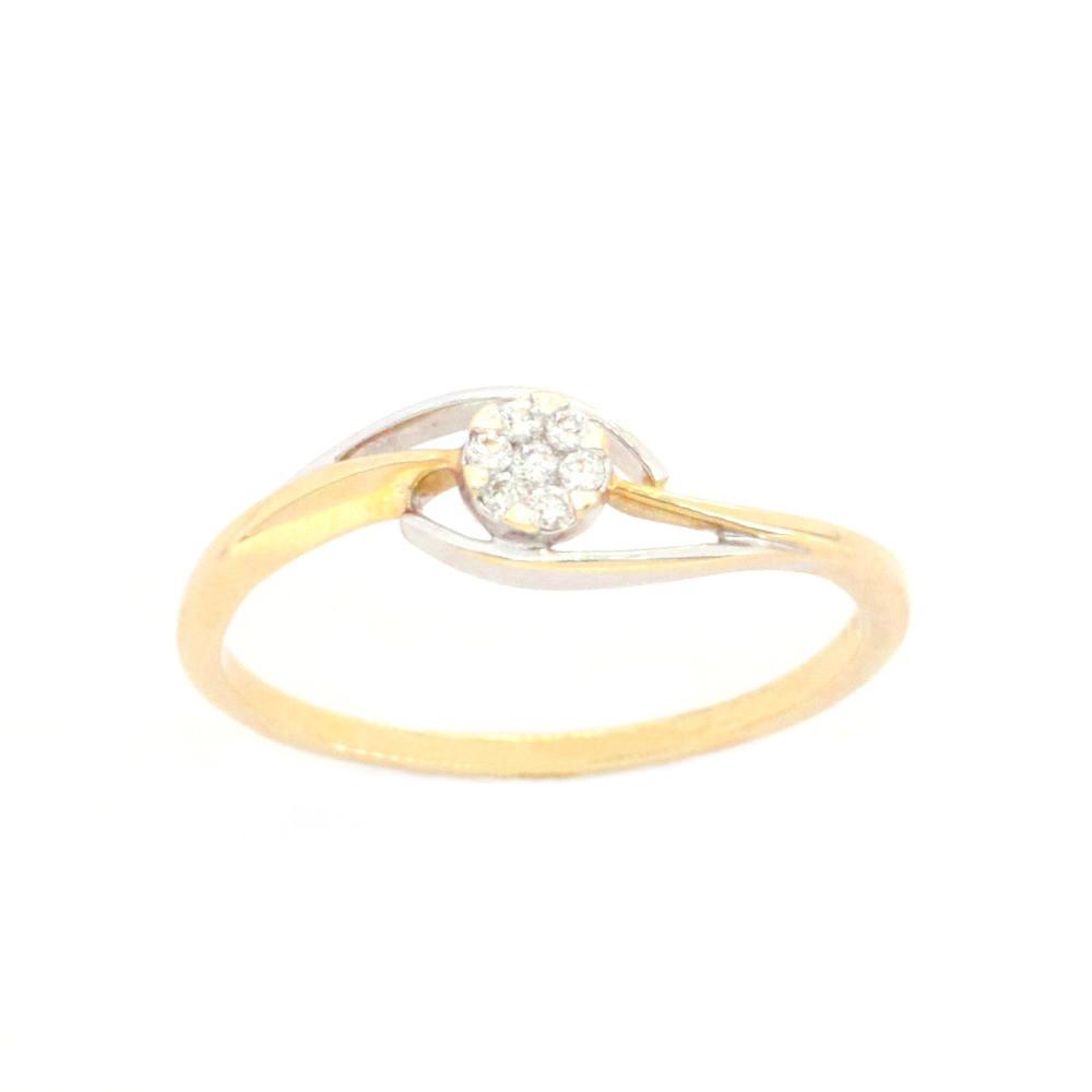 Золоте кільце з діамантами