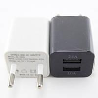 Блок питания универсальное зарядное устройство кубик на 2 USB порта 2.1A!Акция