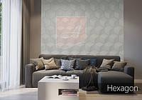 Гипсовые 3D панели Alivio серии Hexagon