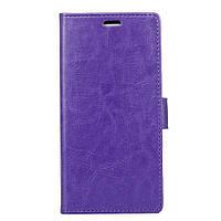 Чехол книжка для Meizu E2 боковой с отсеком для визиток, Гладкая кожа Фиолетовый