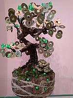 Декоративное денежное  дерево по фен шуй персик