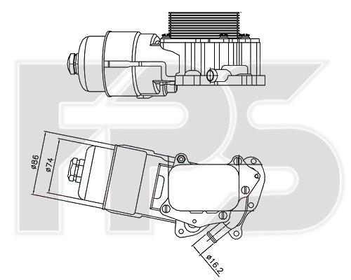 Масляный радиатор Citroen Berlingo, PeugeotPartner, Ford C-Max,