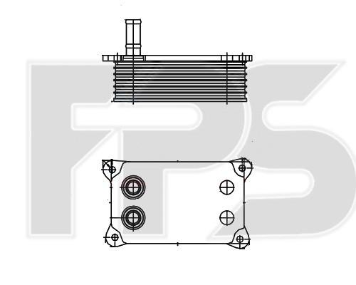 Радиатор масляный Ford Transit
