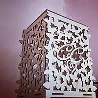 Свадебная коробка для денег с узором из бабочек