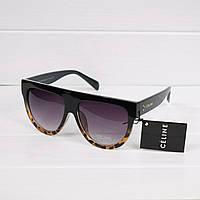 Очки женские от солнца Celine коричневый леопард, магазин очков