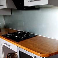 Фартук кухонный из стекла покраска в металлик, стеновая панель, скинали ФК1