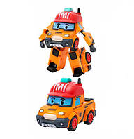 """Игрушка детская машинка- трансформер  """"Робокар Марк"""" оранжево-красный 11*10*15 см."""