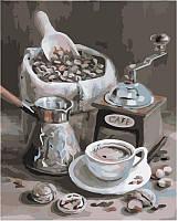 Картина по номерам Утренний кофе 40 х 50 см (арт. КН2047)
