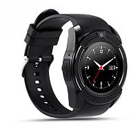 Умные Часы Smart Watch Phone  V8 Black  Круглый экраном!