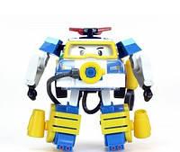 """Игрушка детская машинка- трансформер  """"Робокар Поли водолаз"""" бело -синий  20*9*15см ."""