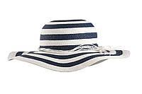 Шляпа с широкими полями женская в полоску F65 KAP 3