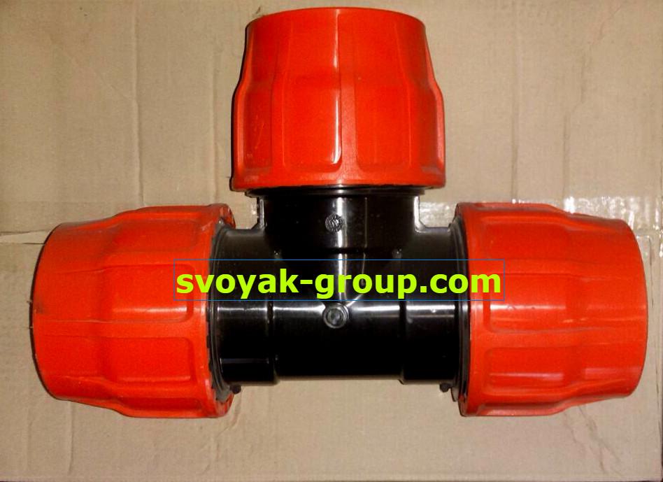 Тройник зажимной для шланга Layflat (LFT)  - 110х75х110 мм.