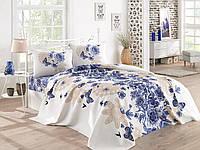 Постельное белье Eponj Home Pike - Mahsima синее евро