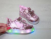 Детская обувь кедики светяшки сердечки