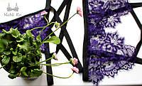 Фиолетовый комплект кружевного белья Merlot