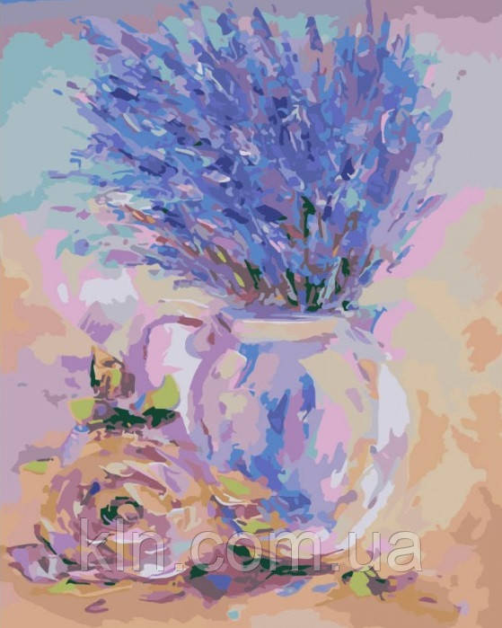 Картина для рисования по номерам Набор БЕЗ КРАСОК! Нежная лаванда (KH2044) 40 х 50 см