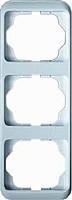 Рамка 3 поста вертикальная ABB Alpha Nea Белая Матовая (1733-24)