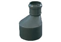 Переход 110х75 (бутылка) ПП Европласт с раструбом и уплотнительным кольцом для внутренней канализации серый