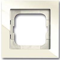 Рамка 1 пост АВВ Axcent Белый Шале (1721-296-500)