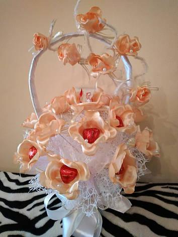 Букет из конфет  Персиковая мелодия, фото 2