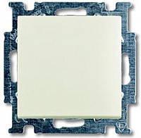 Выключатель 1-клавишный АВВ Basic 55 Белый Шале (2006/1 UC-96-507)