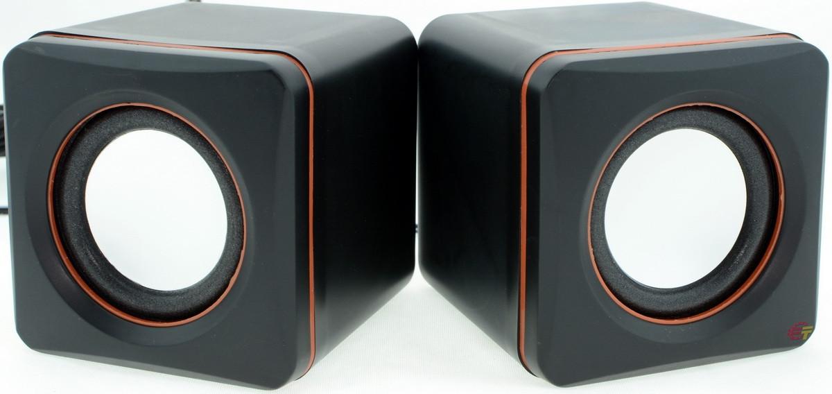 Компьютерные колонки 2.0, USB, 5 Вт, TRY SOUND CUBETONE, черные, гарантия 12 мес