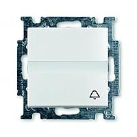 Кнопка одноклавишная с полем для надписи ABB Basic 55 Белый (2026 UCN/KL-94-507)