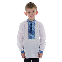 Рубашка вышитая крестиком для мальчика, фото 1