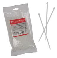 Стяжки кабельные белые ElectroHouse 4x150