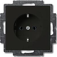 Розетка с заземлением ABB Basic 55 Черный Шато (20 EUC-95-507)