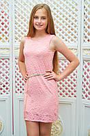 Подростковое платье-футляр Анита для девочки р.134-152 персик