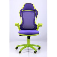 Кресло Racer сетка фиолетовая, каркас зеленый (AMF-ТМ)