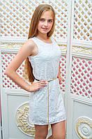 Подростковое платье-футляр Анита для девочки р.134-152 молочный