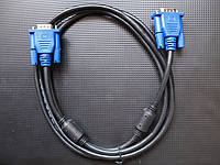 Кабель VGA - VGA 1.8 м TRY WIRE экранированный черный, гарантия 12 мес