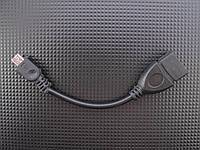 Кабель OTG USB - microUSB, 0,1 м, TRY WIRE, черный, гарантия 12 мес
