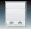Панель телефонной розетки двойная АВВ Element Белый/Серо Ледяной (5013E-A00215 04)