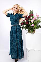 Длинное женское платье из штапеля платье Разные цвета