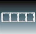 Рамка 4 поста горизонтальная АВВ Element Белый/Серо Ледяной (3901E-A00140 04)