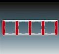 Рамка 4 поста горизонтальная АВВ Element Кармин (3901E-A00140 24)