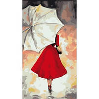 Картина по номерам Набор БЕЗ КРАСОК! Леди под зонтом 27 х 50 см (КН2654)