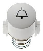 "Заглушка для кнопки и светового сигнала Е10 символ ""Звонок"" Berker 1930/GLASSERIE/PALAZZO Полярная Белизна (1227)"