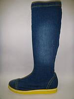 Сапоги женские джинсовые Blue Lion