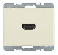 HDMI розетка (подключение сзади под углом 90 градусов) Berker Arsys Белый (3315430002)