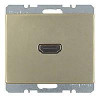 HDMI розетка (подключение сзади под углом 90 градусов) Berker Arsys Бронзовый Лак (3315439011)