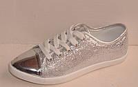 Кроссовки серебро Т427 р 37