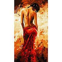 Картина по номерам В красном платье 27 х 50 см (КН2616)